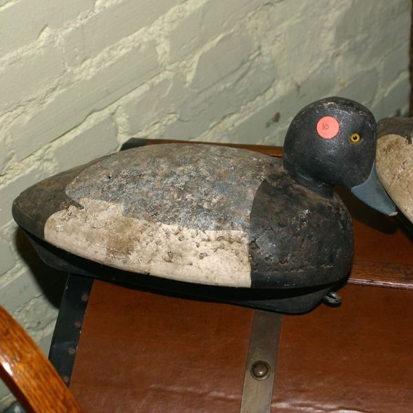 Old duck decoy, upper NY state, carved wood head, g