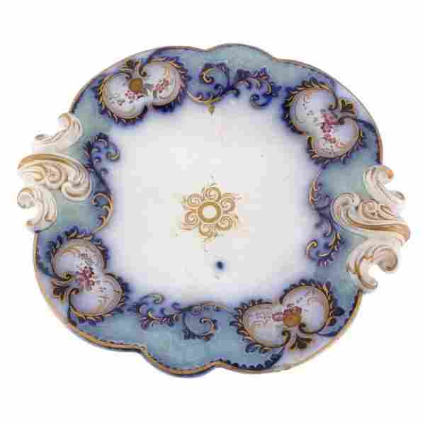 19th century softpaste porcelain low compote, Engli