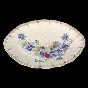 """Lot of three platters, 1- 13' X 10"""" tray, Wm. Adams"""
