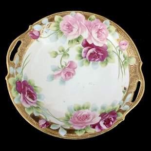 Lot of 3 oriental porcelain bowls. 1 - open handled
