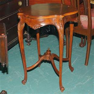 Mid 1900's French Rococo Revival lamp table, solid