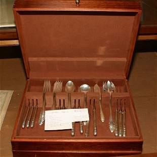 40 piece sterling flatware service, Gorham, Lyric p