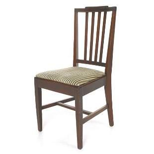 Hepplewhite revival chair, solid mahogany, satinwoo