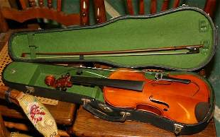 """Violin with case, """"Mansuy"""", by Musicians Supply"""