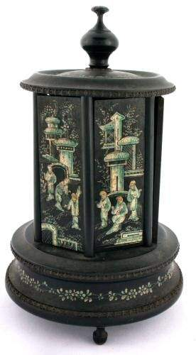 19th century mechanical dispenser/holder, paper la