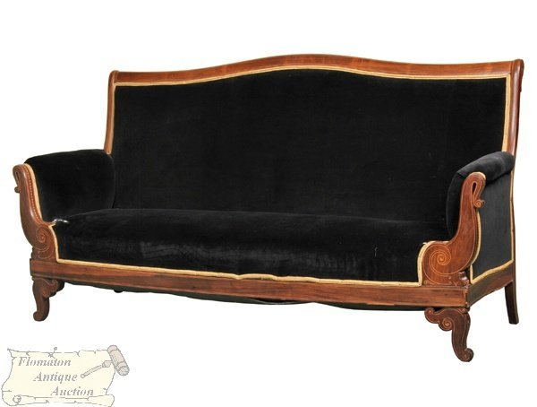 8: Exceptional 19th century Classical Revival sofa, sol