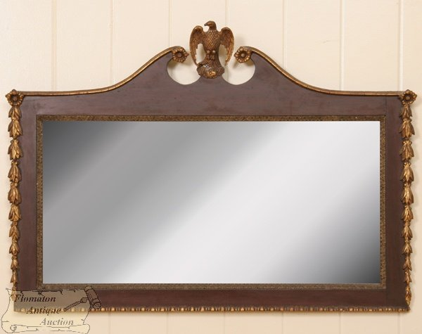 13: Fine late 1800's Federal Revival overmantel or wall