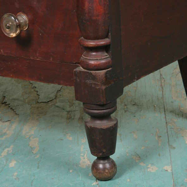 14: Early 1800 Sheraton large three over four drawer ch