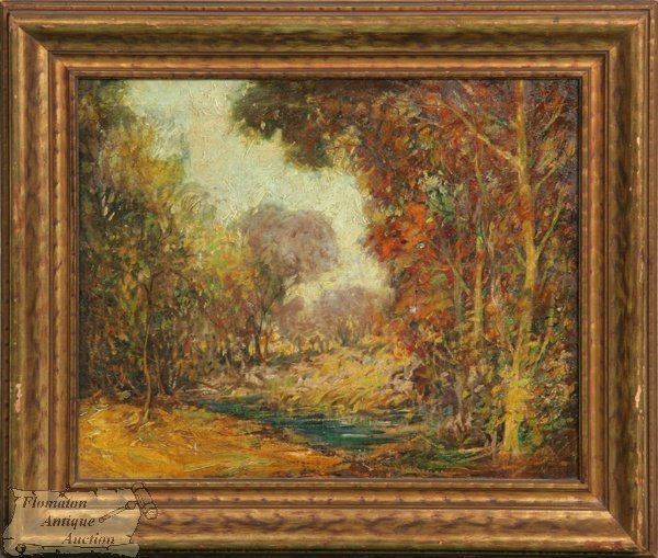 19: Early 20th century oil on canvas, Impressionist, st