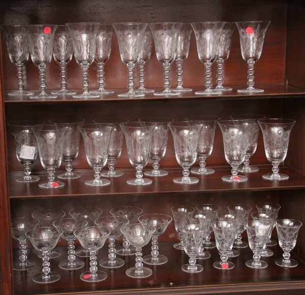 1004: Lot of forty-five pieces stemware, candlewick pat