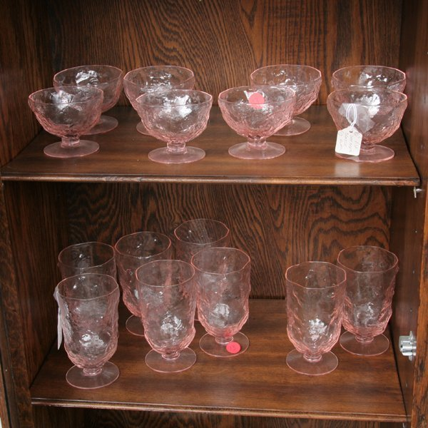 1013: Miscellaneous lot of stemware, four sets, approxi - 2