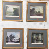 1083 Lot of six contemporary framed prints five vario