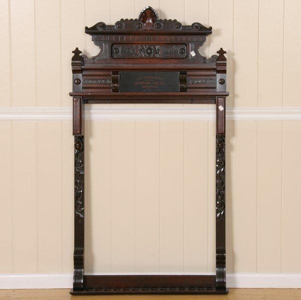 213: Rare late 1800 Eastlake Victorian wall mount billi