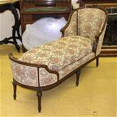 215 Late 1800 Louis XVI Revival chaise lounge solid w