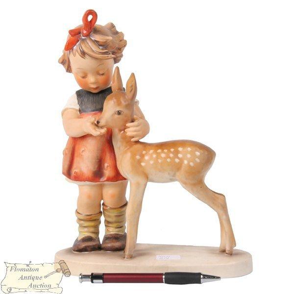 """603: M. I. Hummel Goebel porcelain, """"Girl with fawn"""", #"""