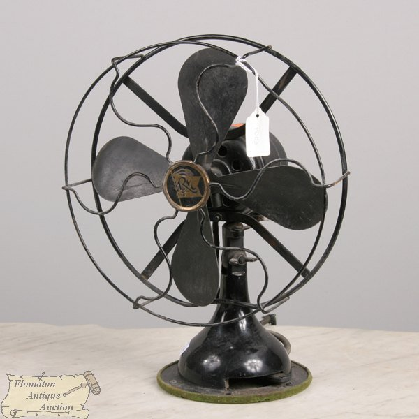 1191: Two early electric table top fans, 1) Westinghous
