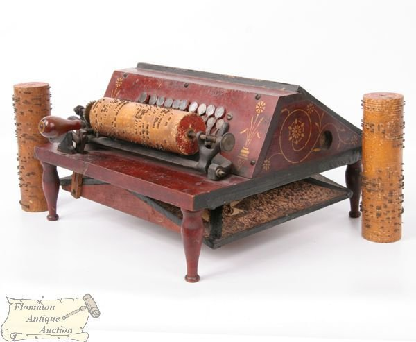 """1171: Small table top organ, """"The Gem Roller Organ, by"""