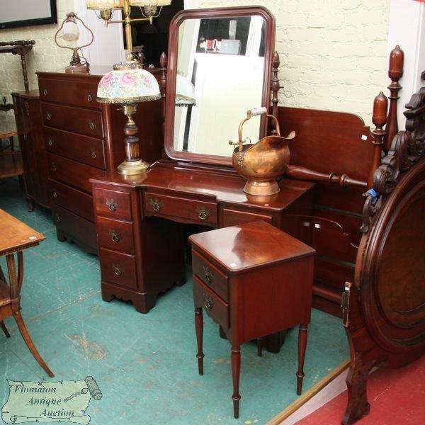 "1272: Mid 1900 five piece bedroom set, ""C P Company"","