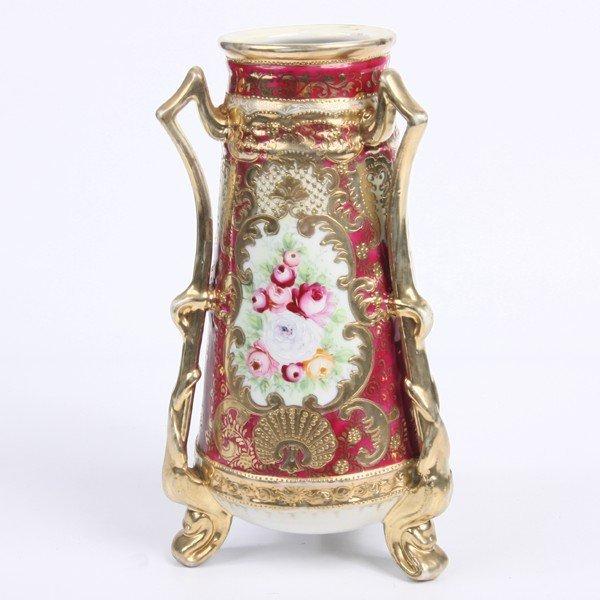 2: Porcelain vase, Nippon, blue Maruki/tree crest mark