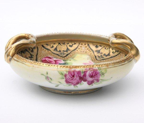 4: Small porcelain nappy, Nippon, blue leaf mark, 1891-