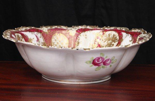 "9: Large porcelain bowl, ""Royal Nippon"", Kinran vase wi"