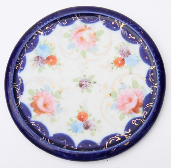 18: Two pieces of porcelain 1)hot plate, unsigned Nippo