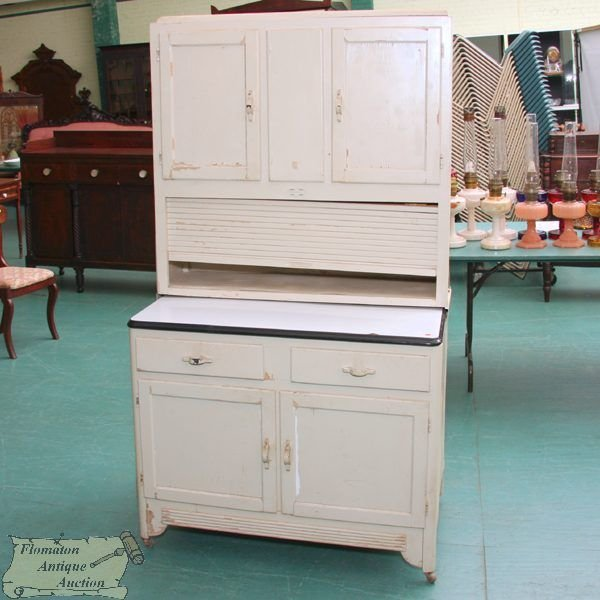 "Art Deco Kitchen Dresser: 273: Early 1900 Art Deco Kitchen Cabinet, ""Sellers"" R"