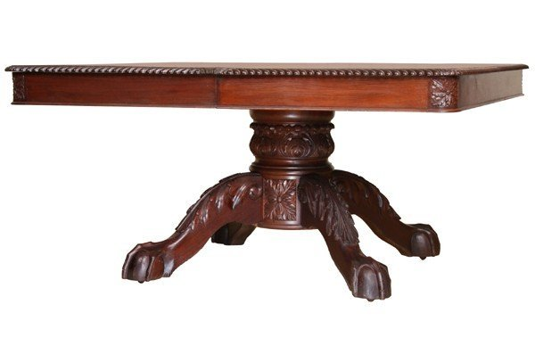 """416: Late 1800 Centennial Federal 60"""" dining table, sol"""
