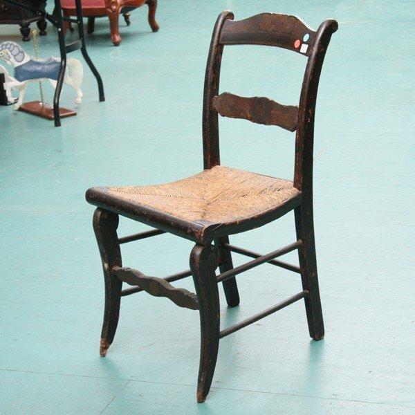1010: 1830 saber leg chair, possibly Baltimore, origina