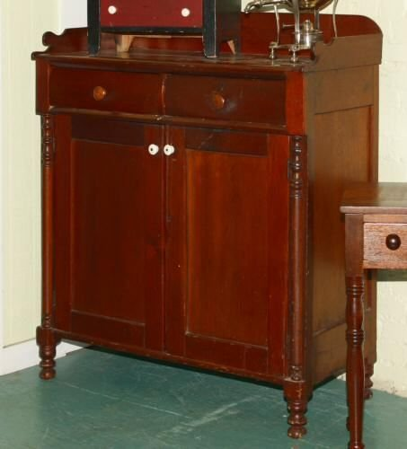 2: Early 1800's Sheraton jelly cupboard, white pine, 2