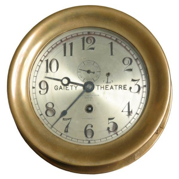"3: Solid brass ships clock, 8"" diameter, Chelsea Clock"