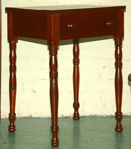 4: Early 1800's Sheraton 1 drawer stand, solid walnut,