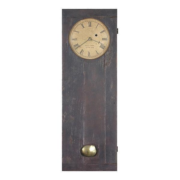 14: Early 1800's wall clock, Samuel Abbott, Boston, cof