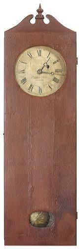 15: Rare c 1800's wall clock, Elnathon Tabor, Roxbury '