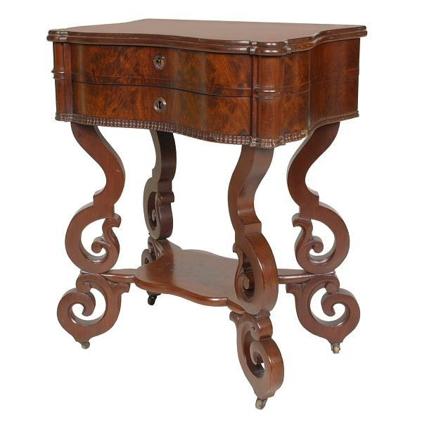 23: Mid 1800's Rococo Victorian dressing/work stand, be