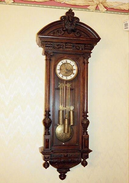 116: 19th century Renaissance Victorian wall regulator,