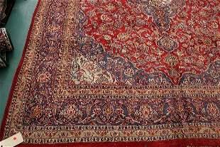 "22: 9' 6"" x- hand made persian rug, multi center medali"