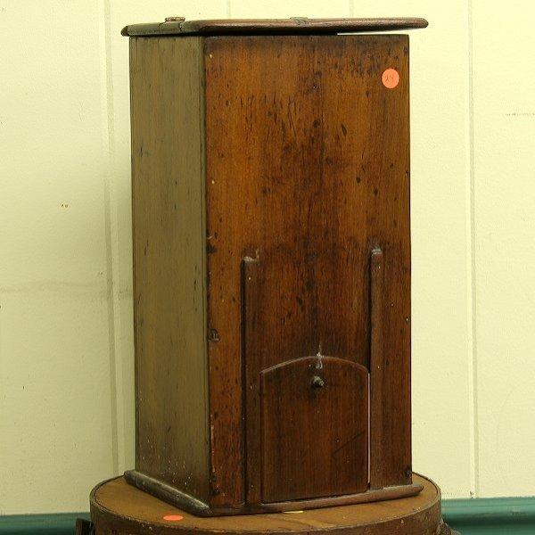 24: Early wooden counter top store dispenser, lift door