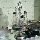 40 Victorian silver plate castor setfloral engraving