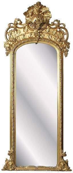 "Mid 1800 Rococo Victorian gilt pier mirror, 7'10"" t"