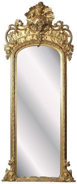 "23: Mid 1800 Rococo Victorian gilt pier mirror, 7'10"" t"