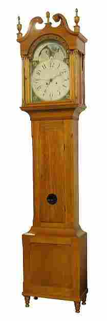 Early 1800 Sheraton tall case clock, south eastern