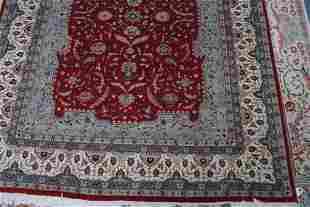 "8' x 10'3"" Very fine all over Qum, handmade wool ru"