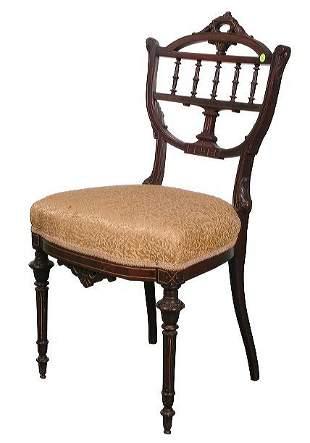 Dainty 1870 Renaissance Victorian occasional chair,