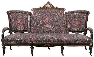 Excellent 1870 Renaissance Victorian three piece pa