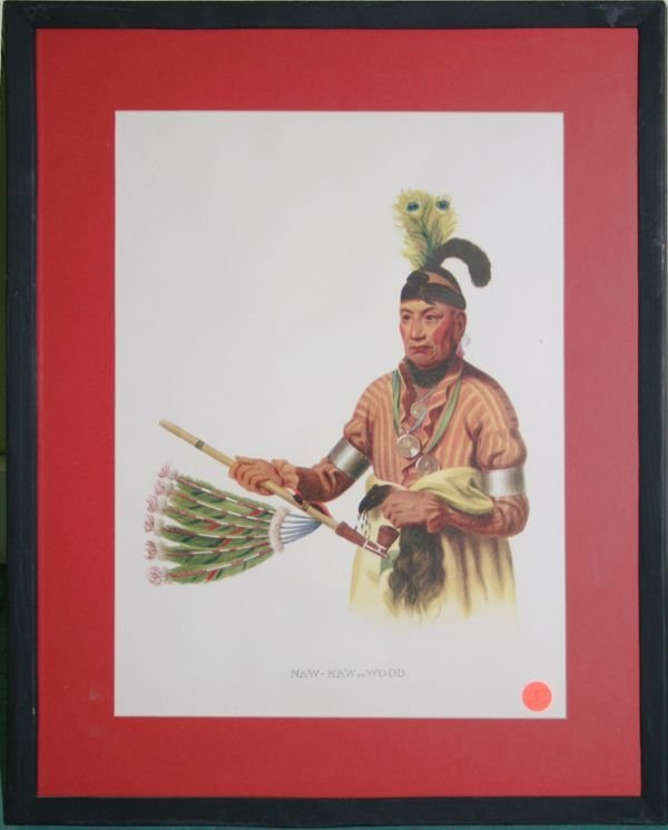 "1003: Two Indian Lithographics, 1-titled ""Naw-Kaw or Wo"