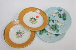 1141 Lot of four items 1 pair of 8 majolica plates