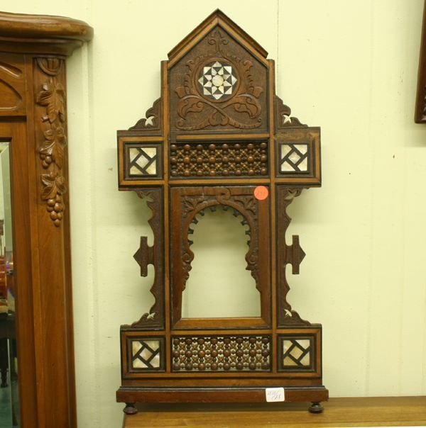 1248: Lot of three Victorian picture frames, (1) inlaid
