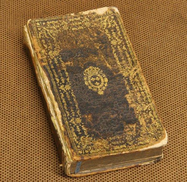 3: Antique leather bound book, Le Plutarque, De L'enfan