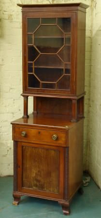 6: Early 1800's Federal cabinet, solid mahogany, rare s